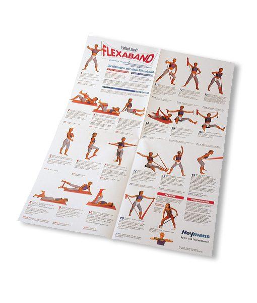Wandposter - Trainingsanleitung Gymnastikband Fitness- und Figurtraining mit dem Flexaband