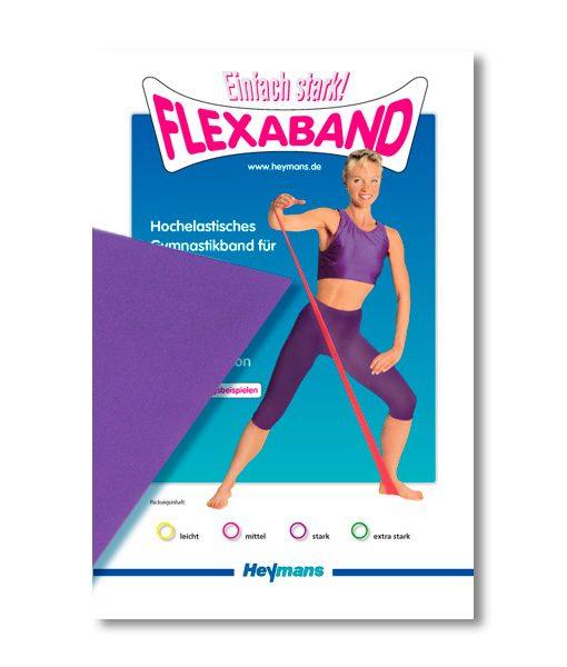 Hochelastisches Gymnastikband lila - stark
