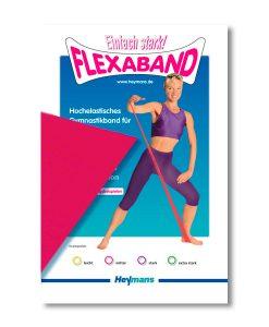 Hochelastisches Gymnastikband pink - mittlere Stärke