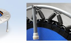 Minitrampoline Stahlfederung oder Gummikabel