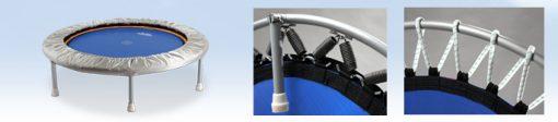 Minitrampoline mit Trimilin-Federungen Stahlfeder oder Gummiseile