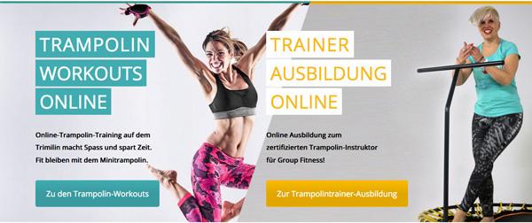 Online Trampolin-Training für Workouts und Ausbildung