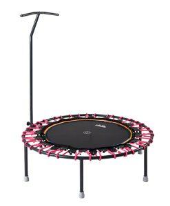 Trampolin Trimilin-jump mit Vario-Gummiseilen in pink & Haltestange kaufen