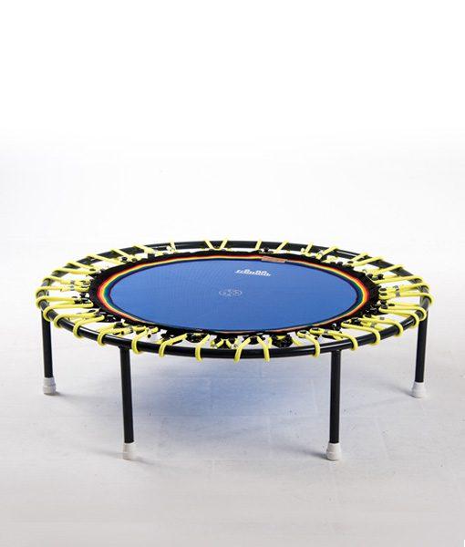 Minitrampolin Trimilin Vivo mit Variosystem/Gummiseile gelb/Sprungmatte blau/ohne Randbezug