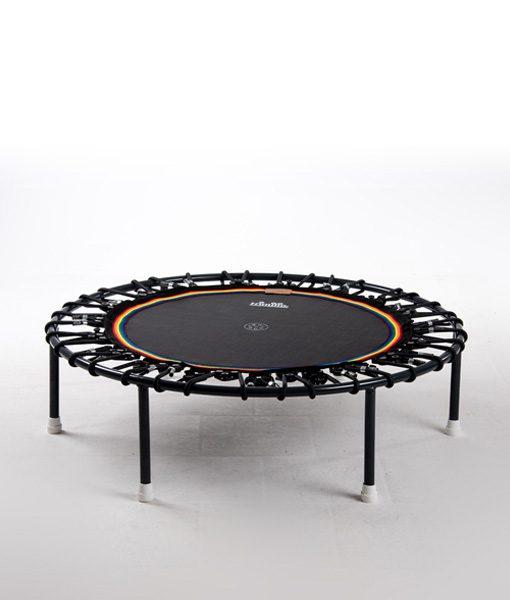 Minitrampolin Trimilin Vivo mit Variosystem/Gummiseile schwarz/Sprungmatte schwarz/ohne Randbezug