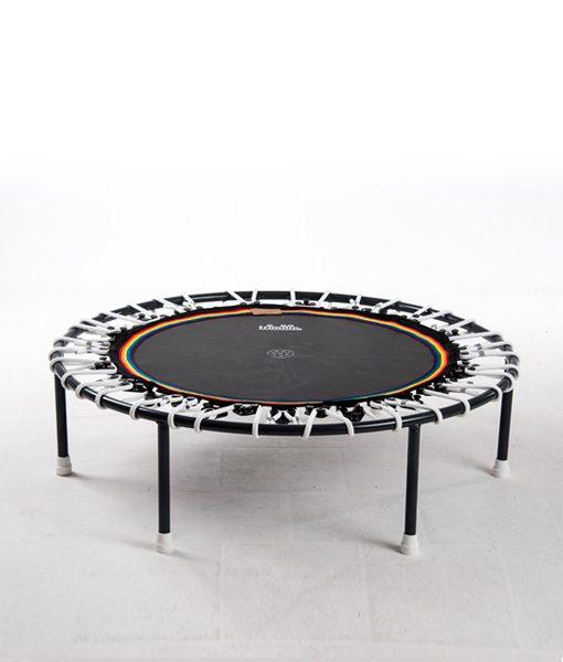Minitrampolin Trimilin Vivo mit Variosystem/Gummiseile weiss/Sprungmatte schwarz/ohne Randbezug