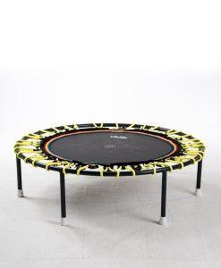 Minitrampolin Trimilin Vivo mit Variosystem/Gummiseile gelb/Sprungmatte schwarz/ohne Randbezug