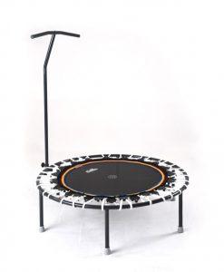 Minitrampolin mit T-Stange Trimilin-jump weiss-schwarz