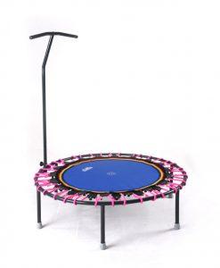 Minitrampolin mit T-Stange Trimilin-jump pink-blau